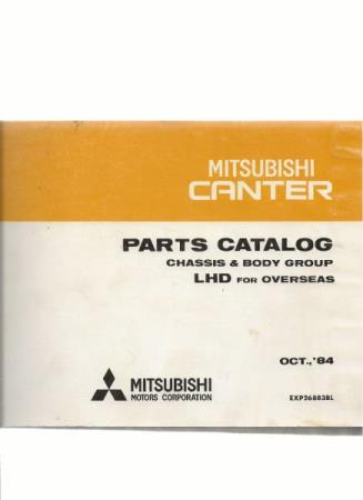 Mitsubishi Canter Parts Catalog Chassis & Body Group LHD for
