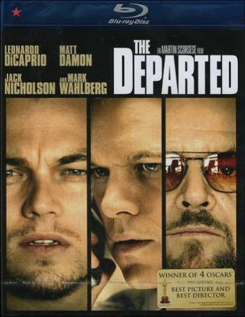 THE DEPARTED (2006) (JACK NICHOLSON) (THRILLER) (BLU-RAY)
