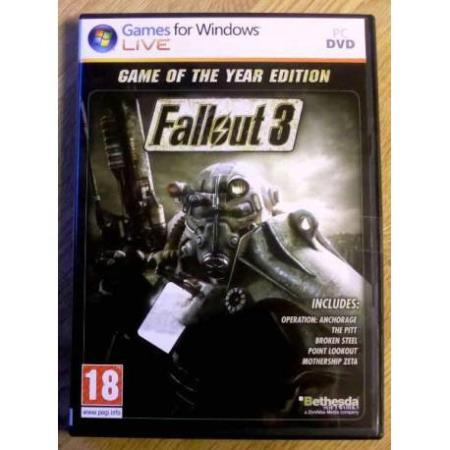 Fallout 3: Game of the Year Edition (Bethesda) - PC