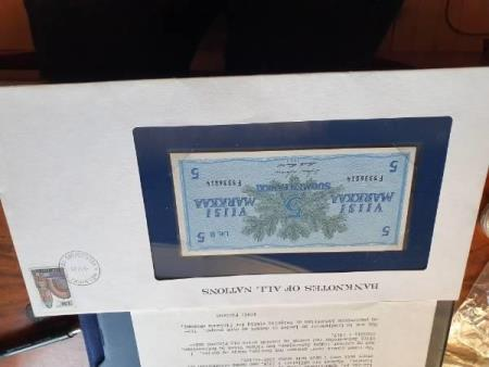 Banknotes of all Nations 5 markkaa (UNC) Finland 1963