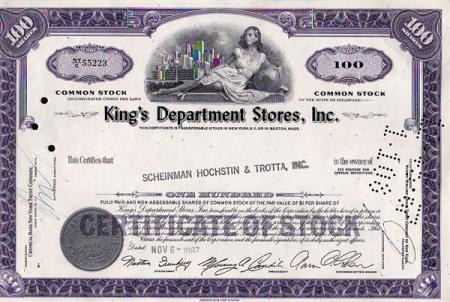 USA- KINGS DEPARTMENT STORES INC. -  1967