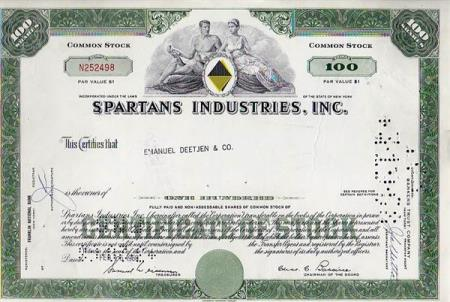 USA- SPARTANS INDUSTRIES  INC.  1968