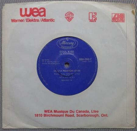OLIVIA NEWTON-JOHN Soul Kiss South African 7""