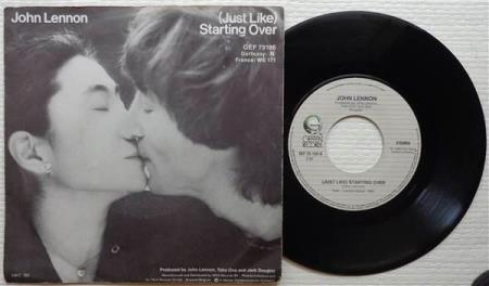 JOHN LENNON & YOKO ONO Starting Over Belgian 7""