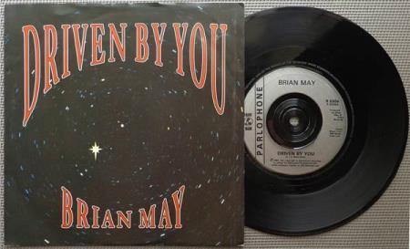 "BRIAN MAY / QUEEN Driven By You UK 7"", VERS. 1"