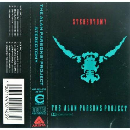 The Alan Parsons Project - Stereotomy - Kassett
