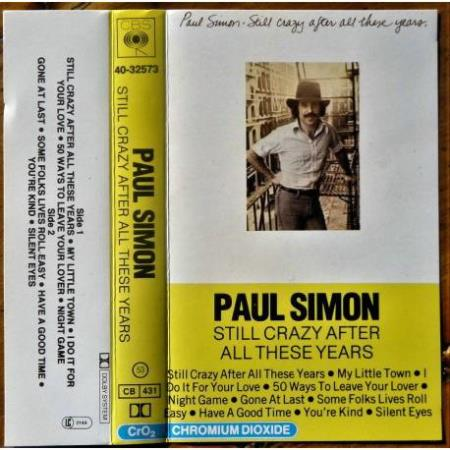 Paul Simon - Still Crazy After All These Years - Kassett