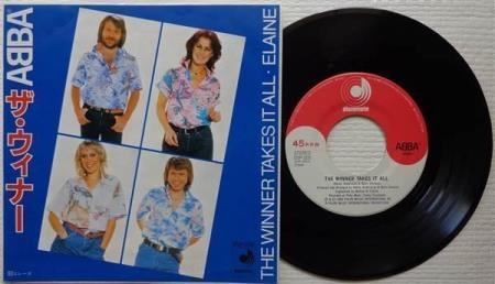 """ABBA The Winner Takes It All 1980 Japan 7"""""""