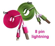 2 stk. USB kabel / lader til iPhone 5S/SE/6/6S/6 Plus/7 etc